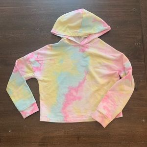 LOVE, FIRE Cropped Hoodie